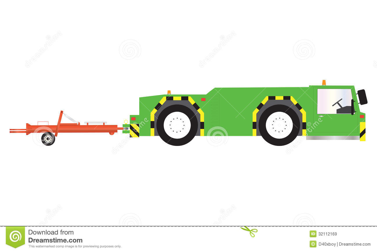 Pushback Tractor Royalty Free Stock Images.