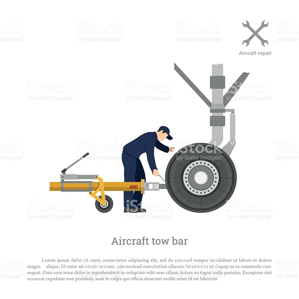 Repair And Maintenance Of Airplane Mechanical Locks The Tow Bar.