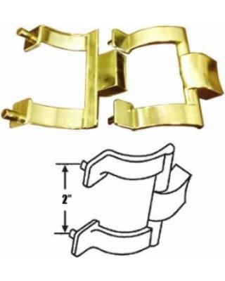 Deal Alert! Bright Gold Shower Door Towel Bar Brackets Only, 2.