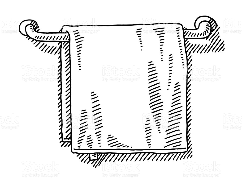 Towel clipart black and white 11 » Clipart Station.