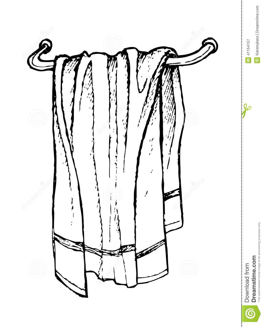 Towel clipart black and white 3 » Clipart Portal.