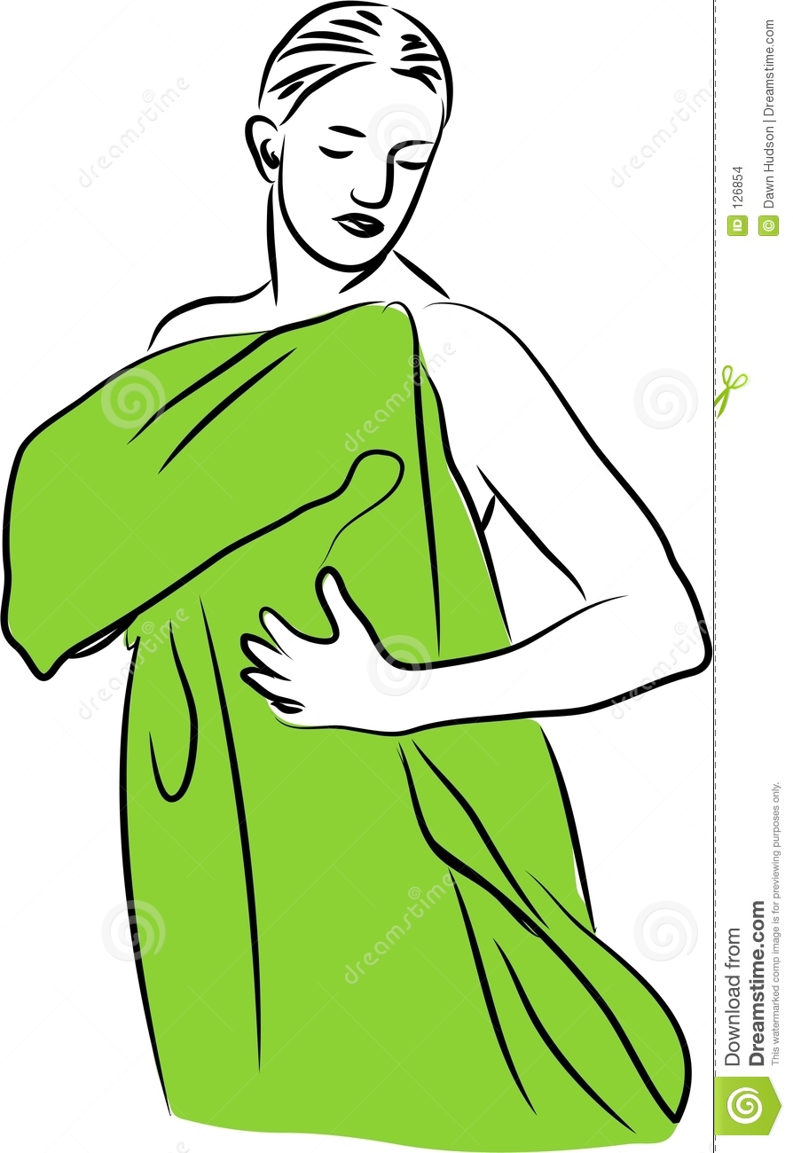 435 Towel free clipart.