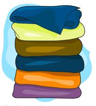 Fold Towels Clipart.