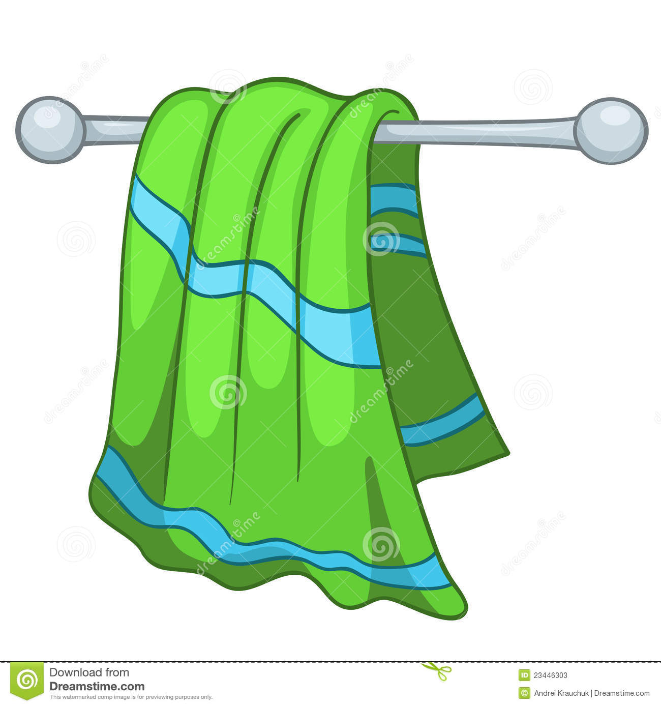 Bath Towel Clipart.