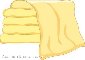 Clip Art of a Stack of Towels.