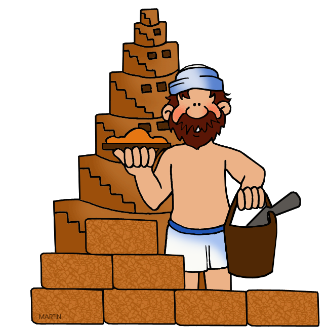 Free Architecture Clip Art by Phillip Martin, Tower of Babel.