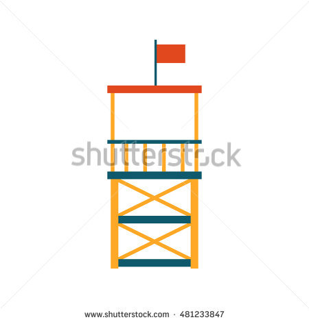 Lifeguard Tower Stock Images, Royalty.