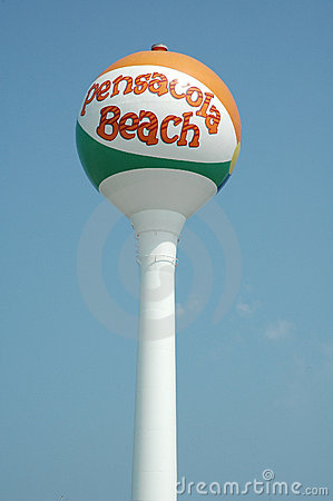 Pensacola Beach Water Tower Royalty Free Stock Photo.