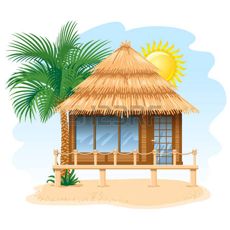 Cabin With Old Water Tower On Wood Stilts Clipart