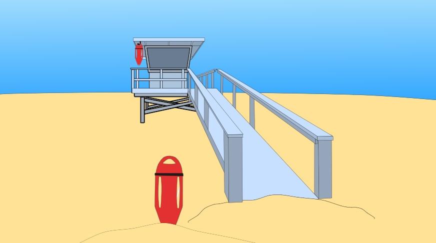 Free Beach for Anime Studio.