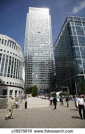 Stock Photograph of England, London, Canary Wharf. Canary Wharf.