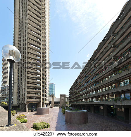 Picture of England, London, Barbican. Looking from a high level.