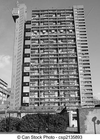 Stock Photos of Trellick Tower, London.