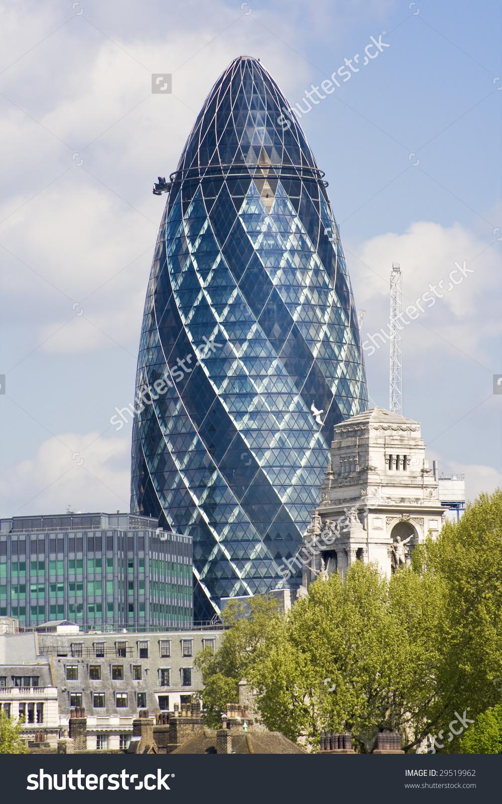 Gherkin Skyscraper London Stock Photo 29519962.