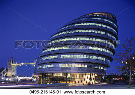 Stock Photography of England, City Hall, GLA (Greater London.