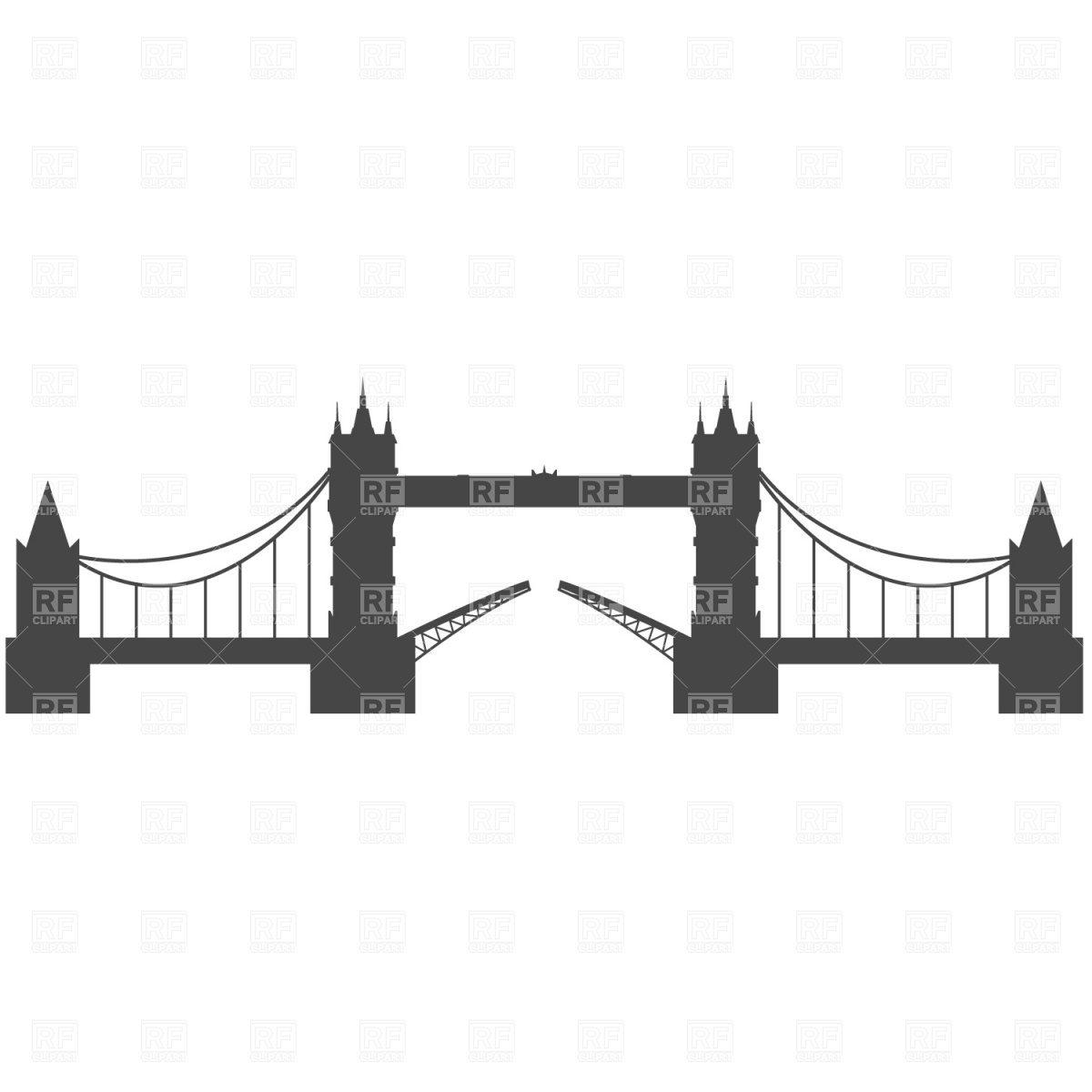 Tower Bridge, London Vector Image #968.