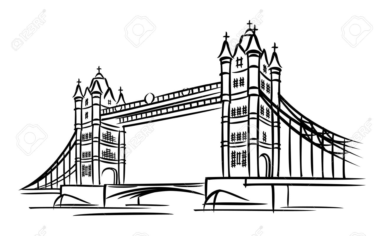 Tower bridge clipart.