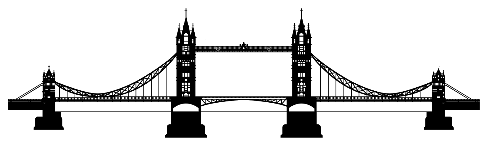 Tower Bridge Clipart transparent PNG.