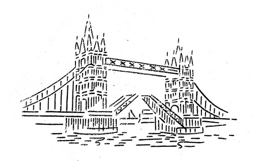 Tower Bridge Clip Art.
