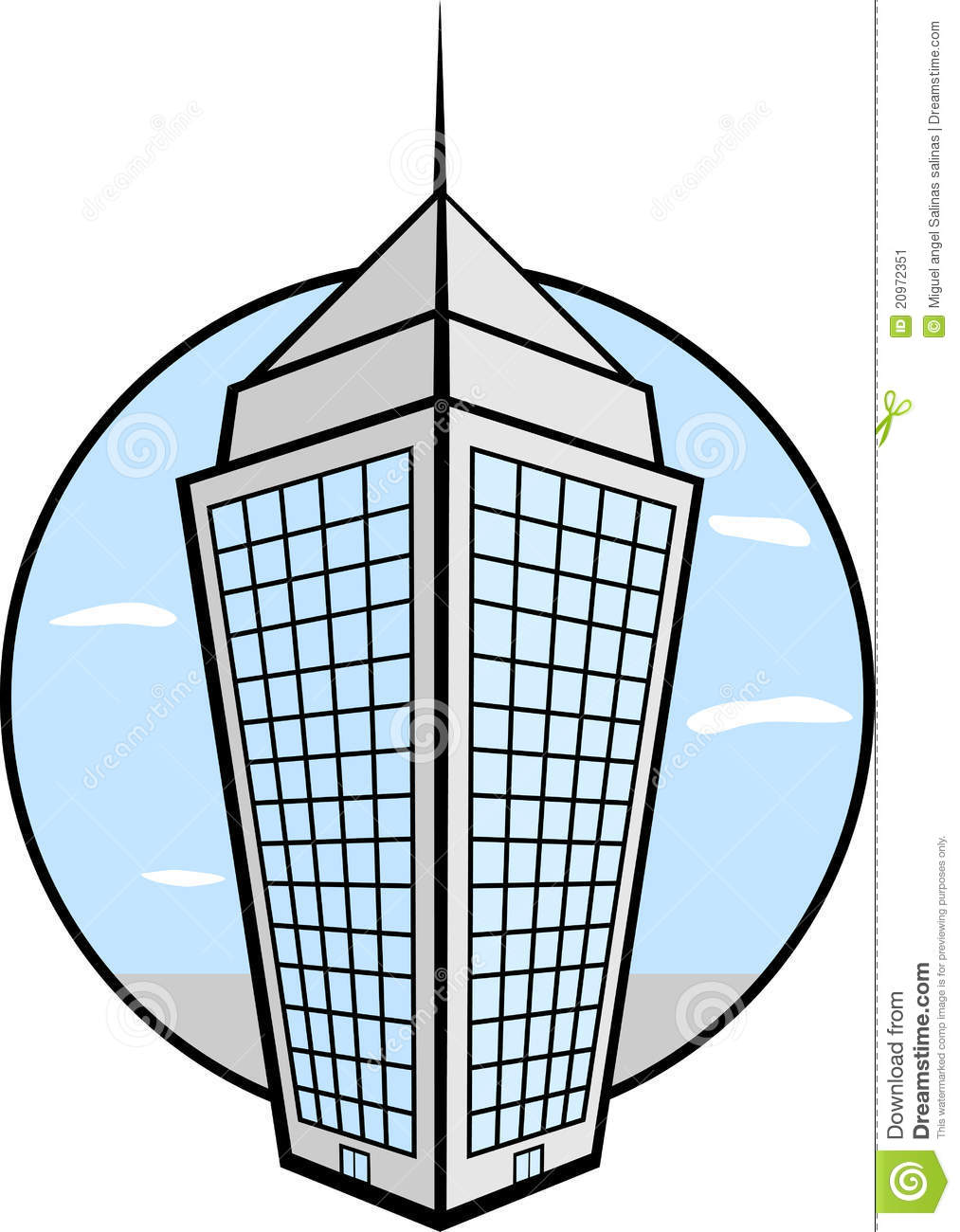 Tower Building Stock Image.