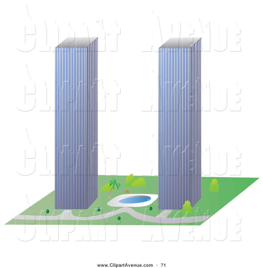 Twin Tower Building Clipart.