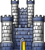 Advanced Medieval Castle / Tower Clip Art for Custom Coat of Arms.