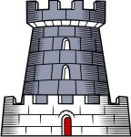 Medieval Castle Clip Art for Family Coat of Arms.