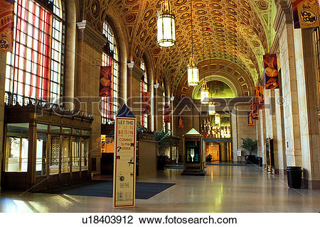 Stock Photo of Cleveland, OH, Ohio, Interior of Terminal Tower, a.