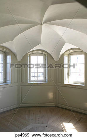 Stock Photograph of INSIDE A WATCH TOWER KRONBORG SLOT CASTLE.