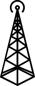 Antenna Tower clip art Free Vector / 4Vector.