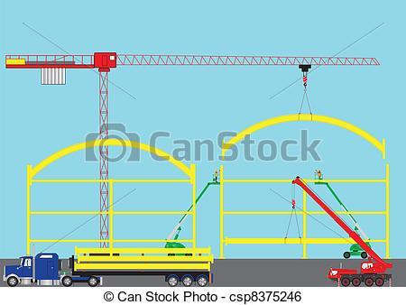 Clip Art Vector of Construction Site.