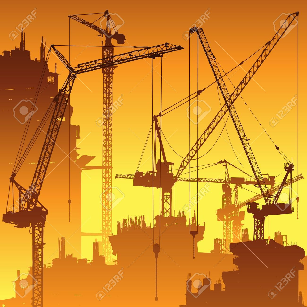 Tower Crane Vs Mobile Crane : Tower construction clipart clipground