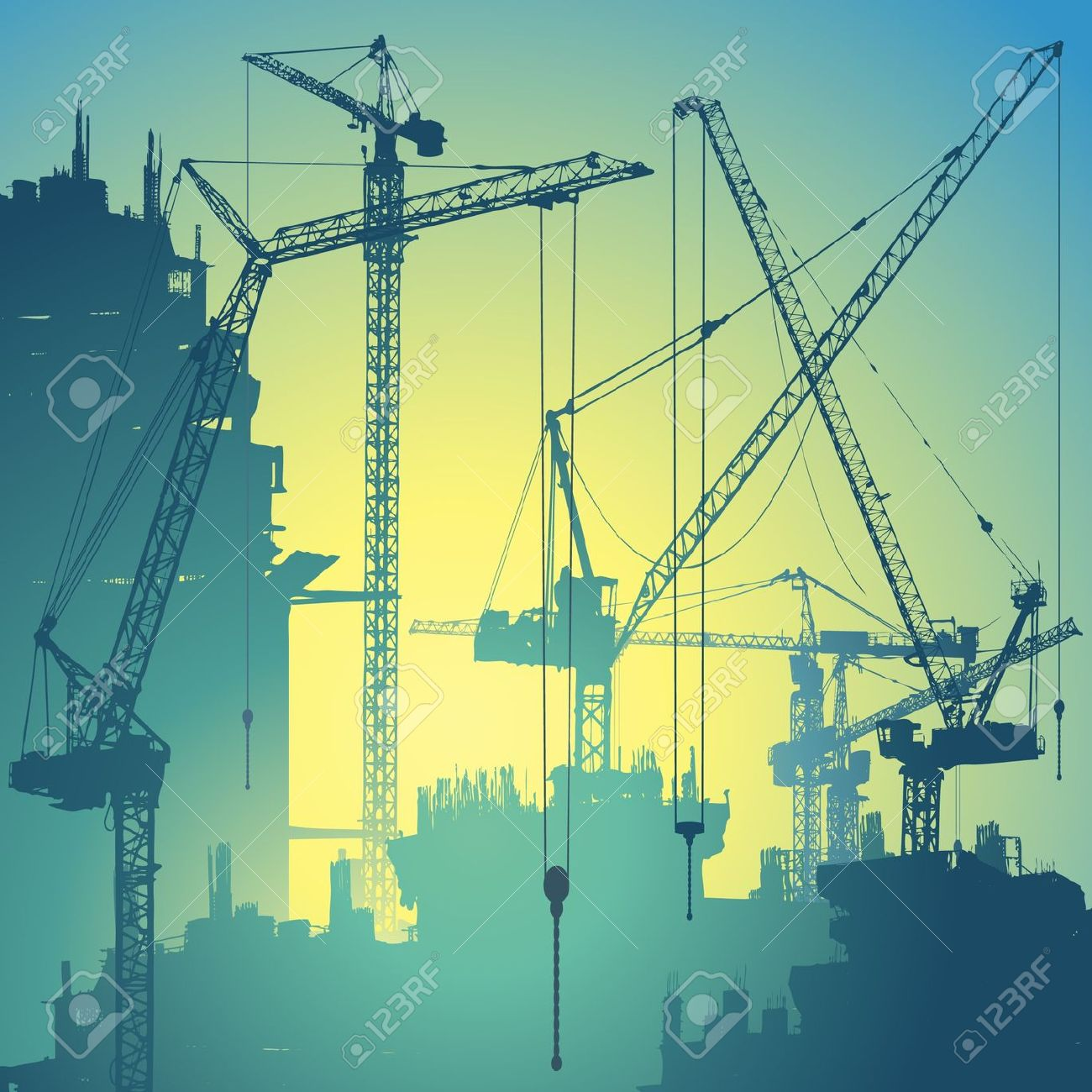 Construction clipart background.