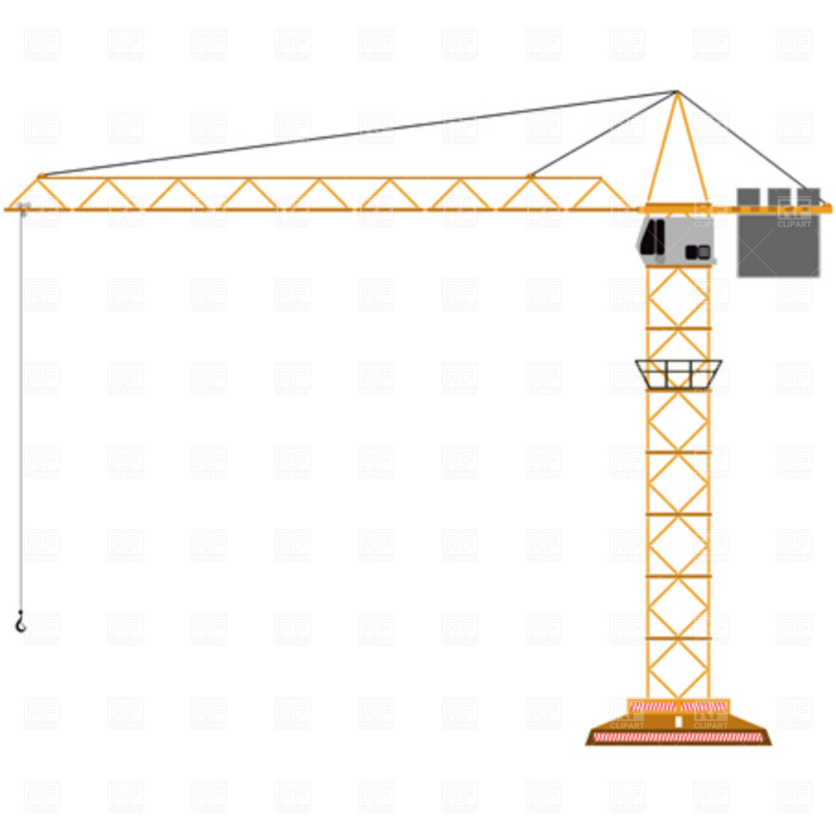 Tower crane Vector Image #3223.