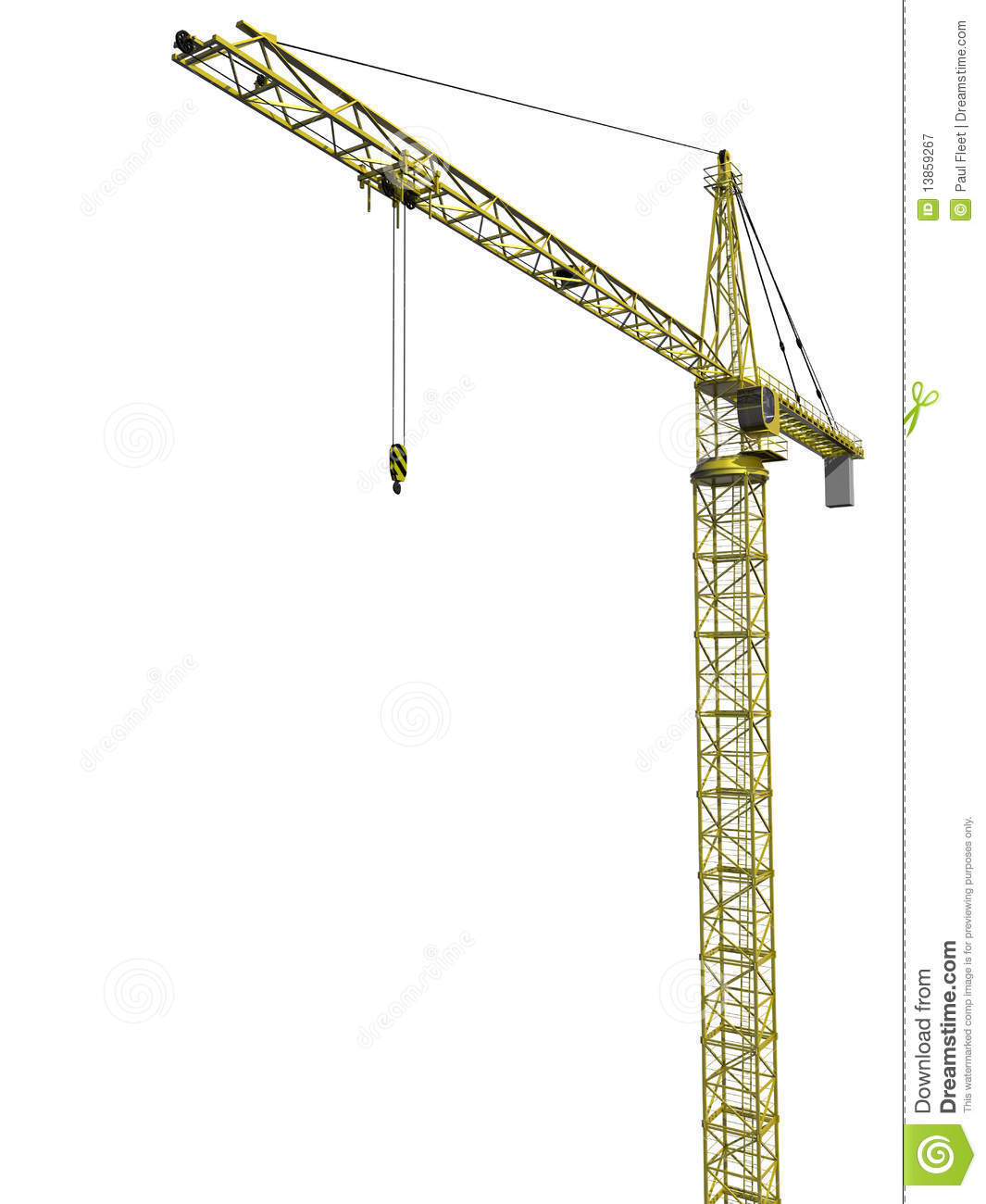 Tower crane clipart.