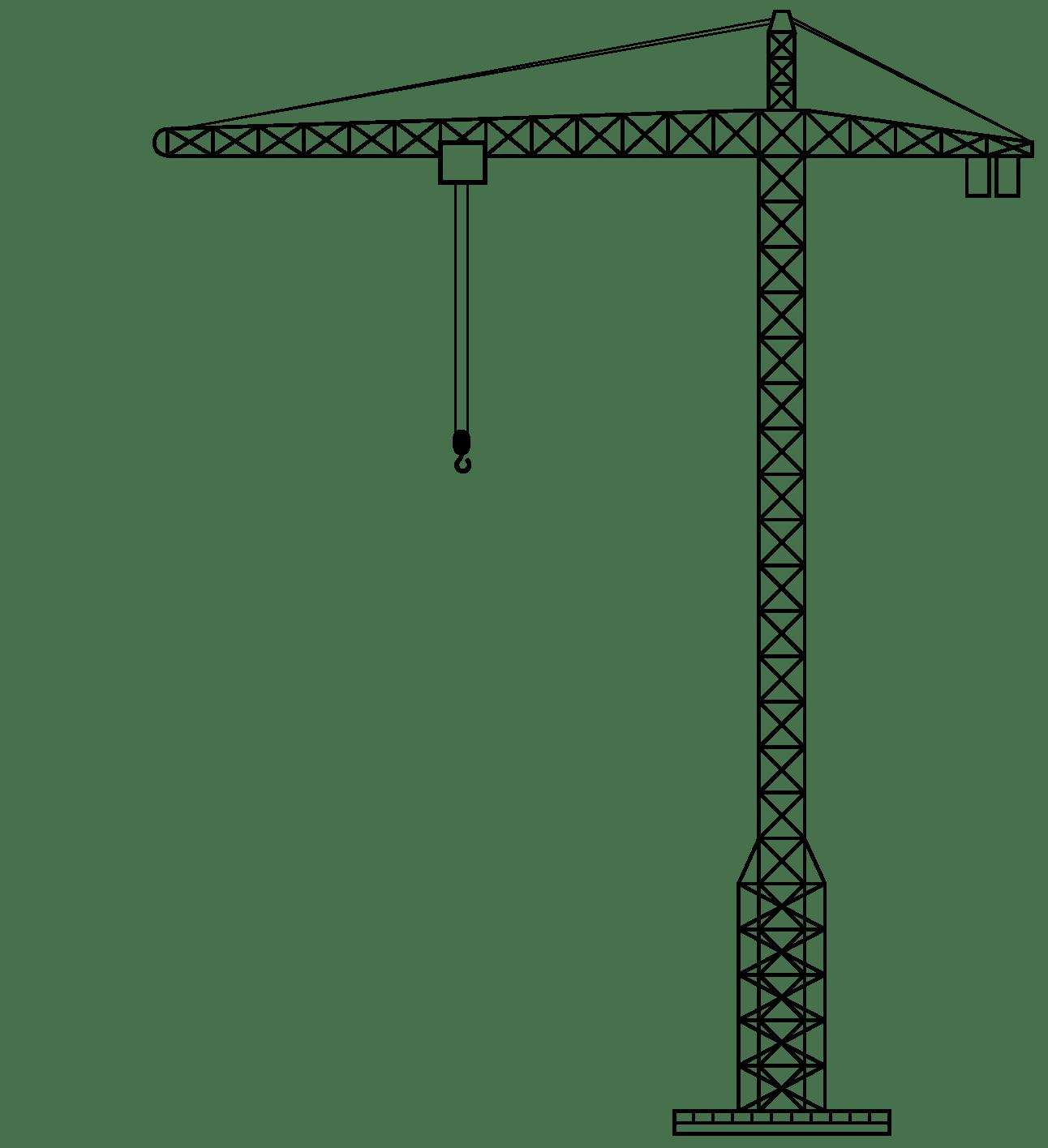 Crane Clipart transparent PNG.