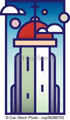Vector Clipart of Church tower.