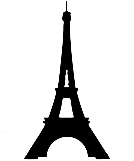 Eiffel Tower Silhouette Clipart Free Stock Photo.