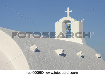 Stock Photography of Greece, Whitewashed traditionally Greek.