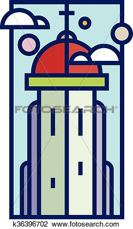 Clipart of Church tower k36396702.