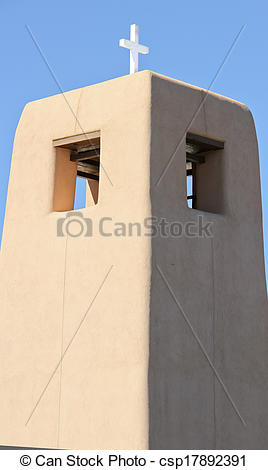 Stock Photographs of Church bell tower cross #5.