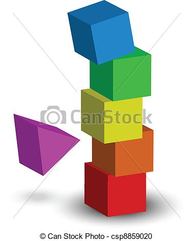 Vector Clipart of illustration of tower collapse.