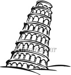 Leaning tower of pisa clip art.