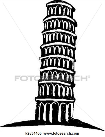 Falling Tower Clipart.