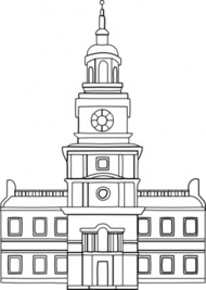 City hall clipart silhouette.