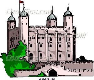 Tower of London Vector Clip art.