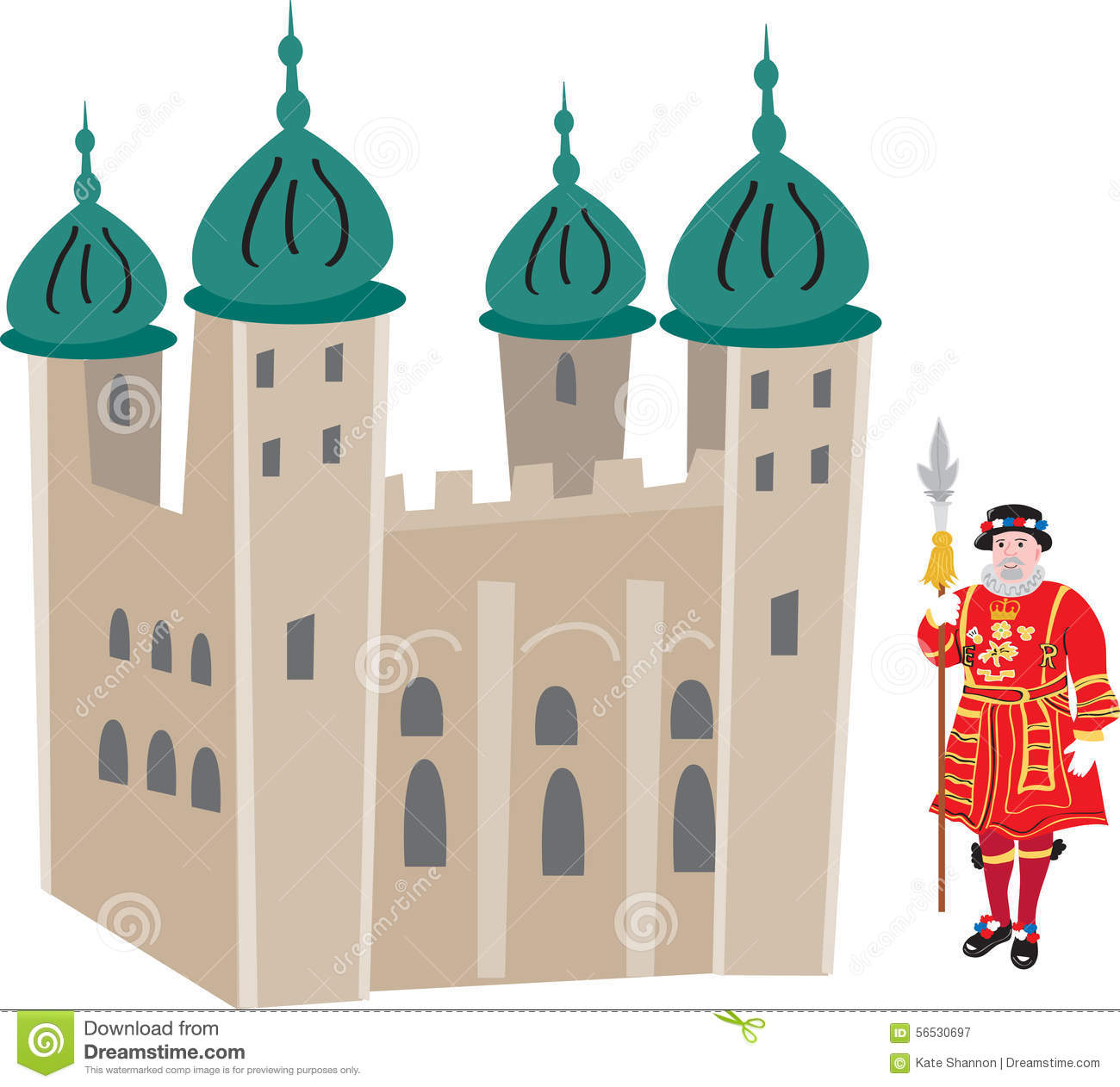 Tower Of London Stock Vector.