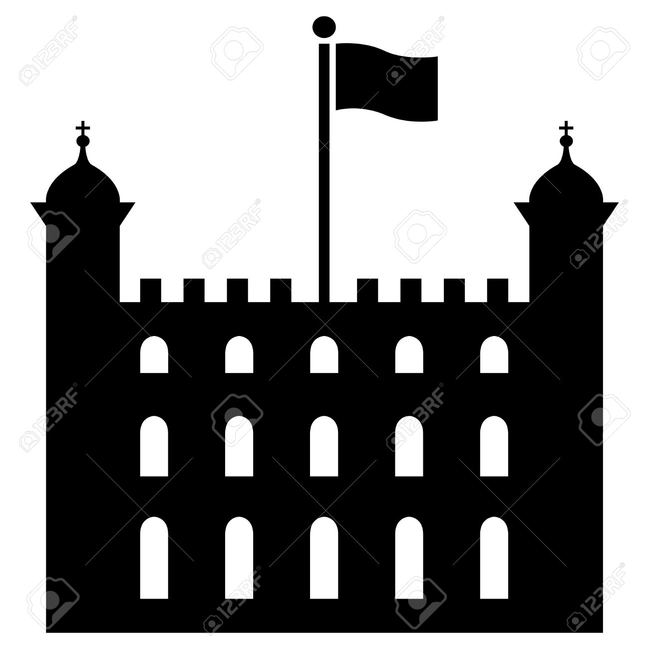 Vector Illustration Of Tower Of London Royalty Free Cliparts.
