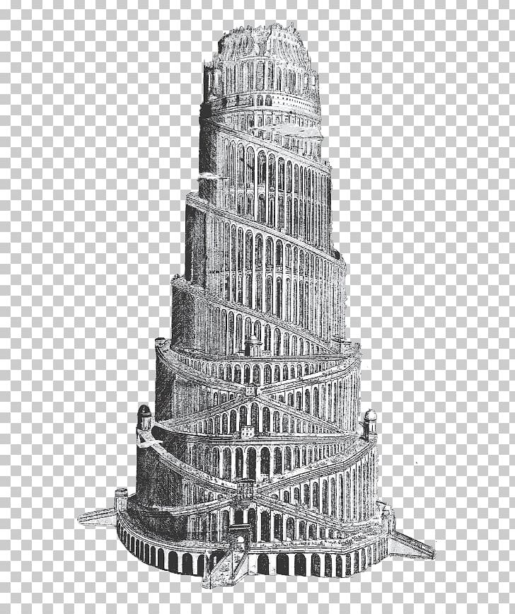 Tower Of Babel Middle Ages 18th Century Translation PNG.