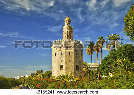 Stock Photography of Tower of gold, Seville k6155241.
